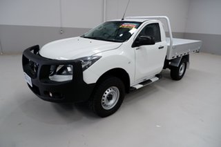 2017 Mazda BT-50 UR0YG1 XT White 6 Speed Sports Automatic Cab Chassis.