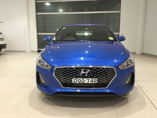 2017 Hyundai i30 PD MY18 SR D-CT Blue 7 Speed Sports Automatic Dual Clutch Hatchback