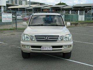 2003 Lexus LX470 UZJ100R (4x4) Cream 5 Speed Automatic Wagon.