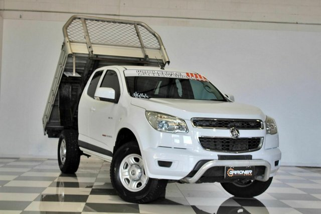 Used Holden Colorado RG MY14 LX (4x4) Burleigh Heads, 2013 Holden Colorado RG MY14 LX (4x4) White 6 Speed Automatic Space Cab Chassis