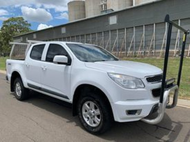 Pre-Owned Holden Colorado RG MY15 LT (4x4) Oakey, 2015 Holden Colorado RG MY15 LT (4x4) White 6 Speed Manual Crew Cab Pickup