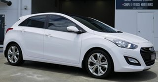 2013 Hyundai i30 GD MY14 Premium White 6 Speed Sports Automatic Hatchback.