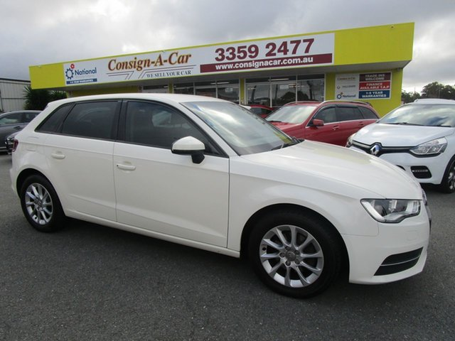Used Audi A3 8V Attraction Sportback S Tronic Kedron, 2014 Audi A3 8V Attraction Sportback S Tronic White 7 Speed Sports Automatic Dual Clutch Hatchback