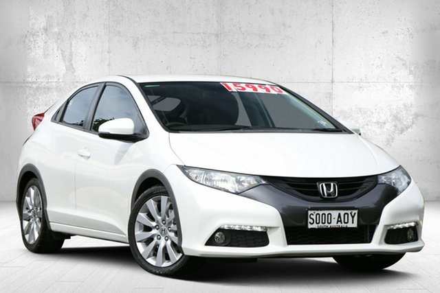 Used Honda Civic 9th Gen VTi-L Valley View, 2012 Honda Civic 9th Gen VTi-L White Orchid 5 Speed Sports Automatic Hatchback