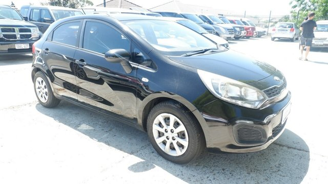 Used Kia Rio UB MY13 S St James, 2013 Kia Rio UB MY13 S Black 4 Speed Sports Automatic Hatchback