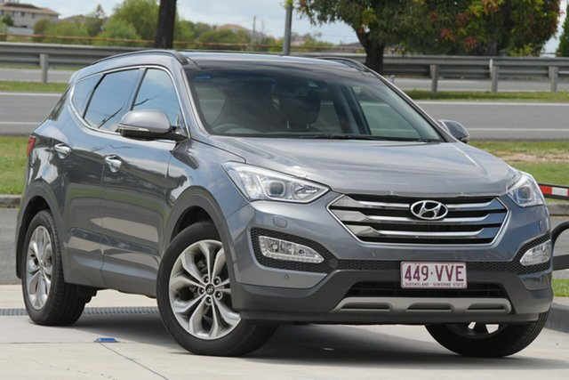 Used Hyundai Santa Fe DM3 MY16 Highlander North Lakes, 2015 Hyundai Santa Fe DM3 MY16 Highlander Silver 6 Speed Sports Automatic Wagon