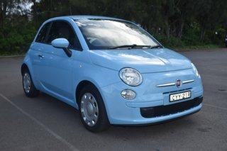 2014 Fiat 500 Series 3 Pop Dualogic Blue 5 Speed Sports Automatic Single Clutch Hatchback.