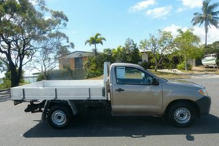2008 Toyota Hilux TGN16R MY08 Workmate 4x2 Gold 5 Speed Manual Cab Chassis.