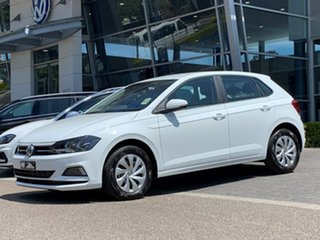 2020 Volkswagen Polo AW MY20 70TSI Trendline White 5 Speed Manual Hatchback.