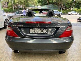 2012 Mercedes-Benz SLK-Class R172 SLK200 BlueEFFICIENCY Tenorite Grey Sports Automatic Roadster