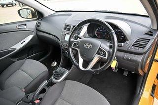 2013 Hyundai Accent RB Elite Yellow 5 Speed Manual Sedan