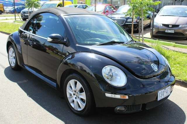 Used Volkswagen Beetle 1Y MY2008 West Footscray, 2009 Volkswagen Beetle 1Y MY2008 Black 6 Speed Sports Automatic Cabriolet