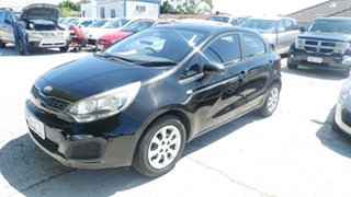 2013 Kia Rio UB MY13 S Black 4 Speed Sports Automatic Hatchback.