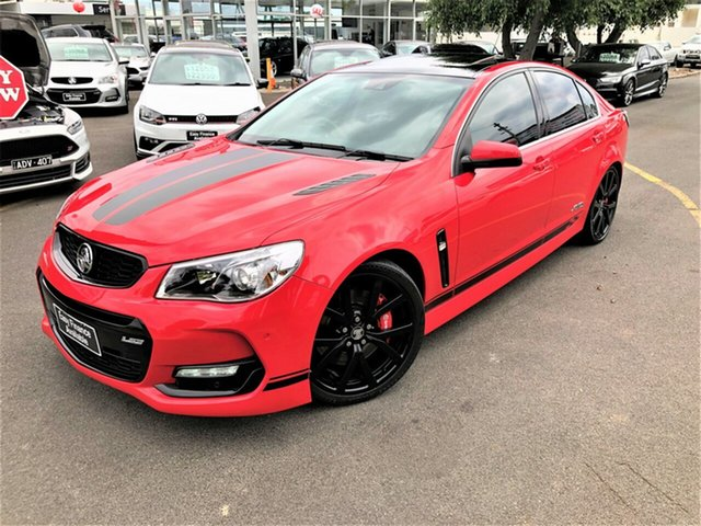 Used Holden Commodore VF II MY16 SS V Redline Seaford, 2016 Holden Commodore VF II MY16 SS V Redline Red 6 Speed Sports Automatic Sedan