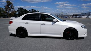 2009 Subaru Impreza G3 MY09 WRX AWD White 5 Speed Manual Sedan.