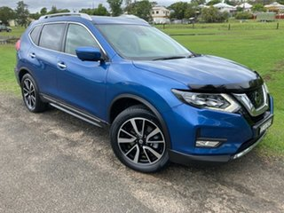 2017 Nissan X-Trail T32 Series II TL X-tronic 4WD Blue 7 Speed Constant Variable Wagon.