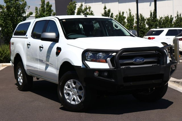 Used Ford Ranger PX MkII 2018.00MY XLS Double Cab Essendon Fields, 2018 Ford Ranger PX MkII 2018.00MY XLS Double Cab White 6 Speed Sports Automatic Utility