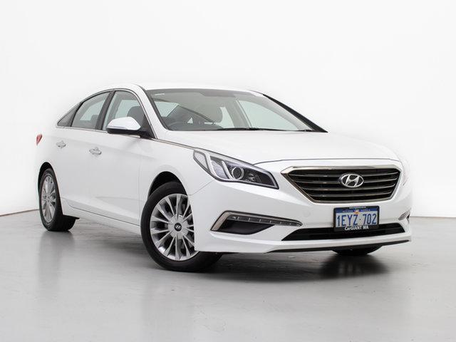 Used Hyundai Sonata LF Elite, 2016 Hyundai Sonata LF Elite White 6 Speed Automatic Sedan