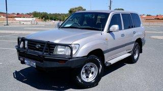 1998 Toyota Landcruiser FZJ105R GXL Silver 4 Speed Automatic Wagon.