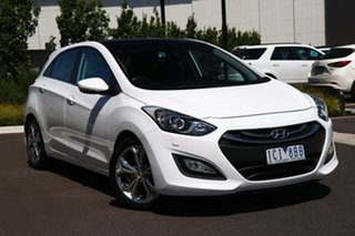 2014 Hyundai i30 GD MY14 Premium White 6 Speed Sports Automatic Hatchback.