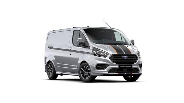 New Ford Transit Custom VN 2021.25MY 320S (Low Roof) Sport Kingswood, 2021 Ford Transit Custom VN 2021.25MY 320S (Low Roof) Sport Moondust Silver 6 Speed Automatic Van