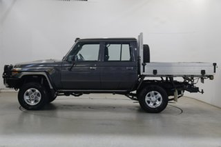 2015 Toyota Landcruiser VDJ79R GXL Double Cab Grey 5 Speed Manual Cab Chassis.