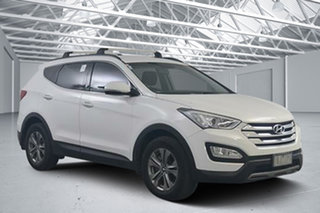 2014 Hyundai Santa Fe DM MY15 Active CRDi (4x4) Creamy White 6 Speed Automatic Wagon.
