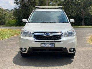2014 Subaru Forester S4 2.5I-L White Constant Variable Wagon.