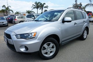 2011 Mitsubishi Outlander ZH MY11 LS 2WD Silver 6 Speed Constant Variable Wagon.