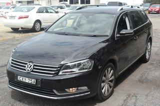 2015 Volkswagen Passat Type 3C MY15 118TSI DSG Black 7 Speed Sports Automatic Dual Clutch Wagon.
