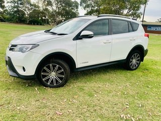 2013 Toyota RAV4 ZSA42R GX (2WD) White Continuous Variable Wagon.