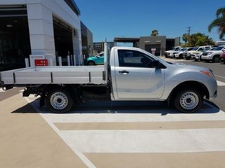 2012 Mazda BT-50 UP0YD1 XT 4x2 Silver 6 Speed Manual Cab Chassis.