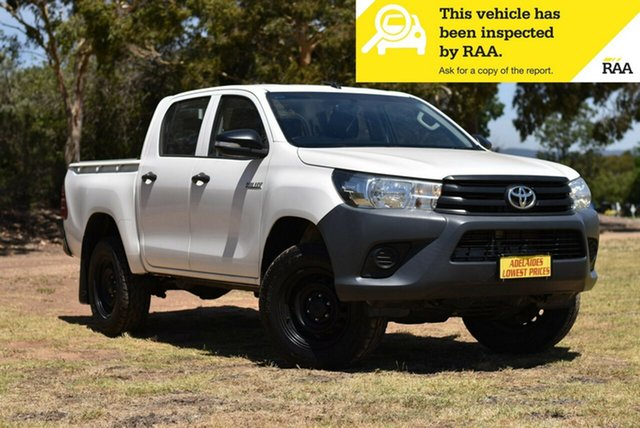 Used Toyota Hilux GUN125R Workmate Double Cab Cheltenham, 2015 Toyota Hilux GUN125R Workmate Double Cab White 6 Speed Manual Utility