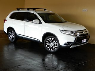 2017 Mitsubishi Outlander ZK MY18 LS (4x2) White Continuous Variable Wagon.