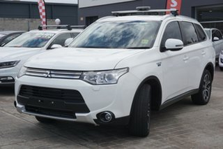 2014 Mitsubishi Outlander ZJ MY14.5 PHEV AWD White 1 Speed Automatic Wagon