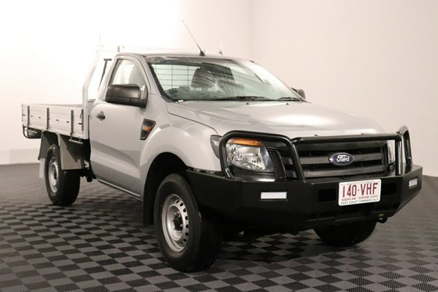 Used Ford Ranger PX XL Acacia Ridge, 2014 Ford Ranger PX XL Silver 6 speed Manual Cab Chassis