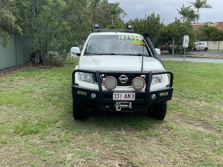 2012 Nissan Navara D40 S6 MY12 ST White 6 Speed Manual Utility.