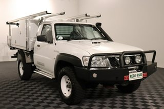 2015 Nissan Patrol Y61 Series 5 MY15 DX White 5 speed Manual Cab Chassis.