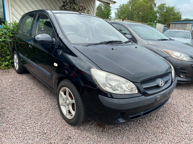 Used Hyundai Getz TB MY09 SX Berrimah, 2009 Hyundai Getz TB MY09 SX Black 5 Speed Manual Hatchback