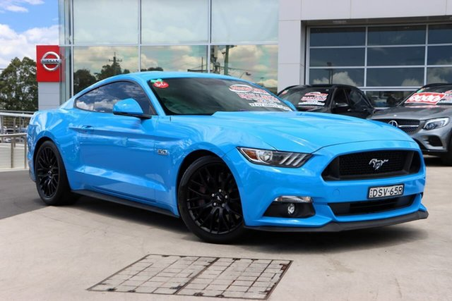 Used Ford Mustang FM 2017MY GT Fastback SelectShift Liverpool, 2017 Ford Mustang FM 2017MY GT Fastback SelectShift Grabber Blue 6 Speed Sports Automatic Fastback