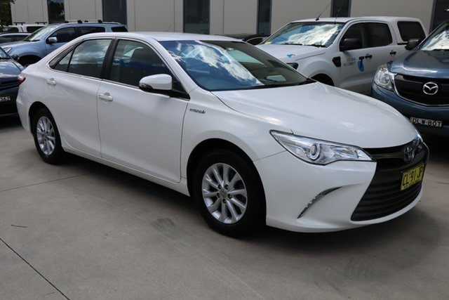 Used Toyota Camry ASV50R Altise Castle Hill, 2017 Toyota Camry ASV50R Altise White 6 Speed Sports Automatic Sedan