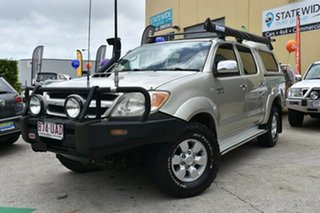2008 Toyota Hilux KUN26R 08 Upgrade SR5 (4x4) Silver 4 Speed Automatic Dual Cab Pick-up.