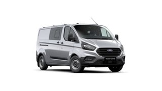 2021 Ford Transit Custom VN 2021.25MY 340L (Low Roof) Frozen White 6 Speed Automatic Double Cab Van.