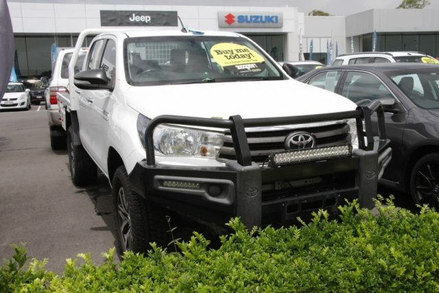 Used Toyota Hilux GUN126R SR Double Cab Aspley, 2016 Toyota Hilux GUN126R SR Double Cab White 6 Speed Sports Automatic Cab Chassis
