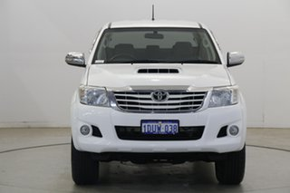 2012 Toyota Hilux KUN26R MY12 SR5 Double Cab White 4 Speed Automatic Utility.