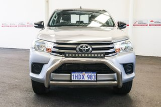 2015 Toyota Hilux GUN126R SR (4x4) Silver Sky 6 Speed Manual Dual Cab Utility.