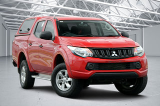 2017 Mitsubishi Triton MQ MY17 GLX Plus (4x4) Red 5 Speed Automatic Club Cab Pickup.