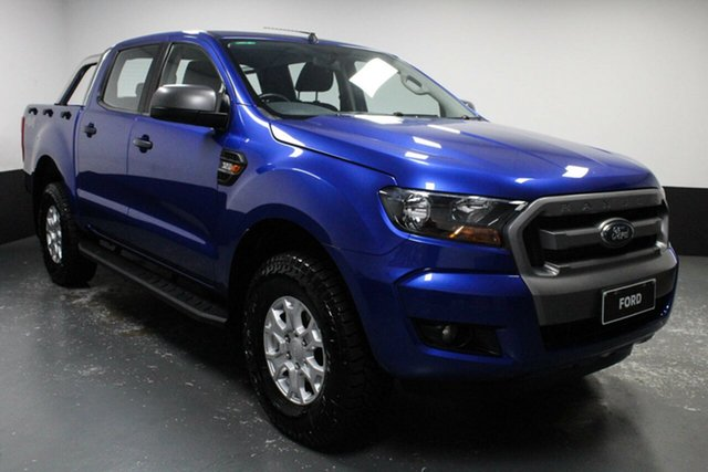 Used Ford Ranger PX MkII XLS Double Cab Rutherford, 2016 Ford Ranger PX MkII XLS Double Cab Blue 6 Speed Sports Automatic Utility