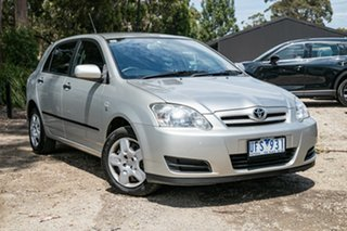 2006 Toyota Corolla ZZE122R 5Y Ascent Millenium Silver 4 Speed Automatic Hatchback.