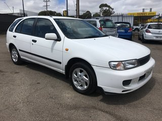 1999 Nissan Pulsar N15 S2 LX White 4 Speed Automatic Hatchback.